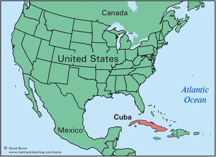 Map Of Cuba And Us Uptowncritters