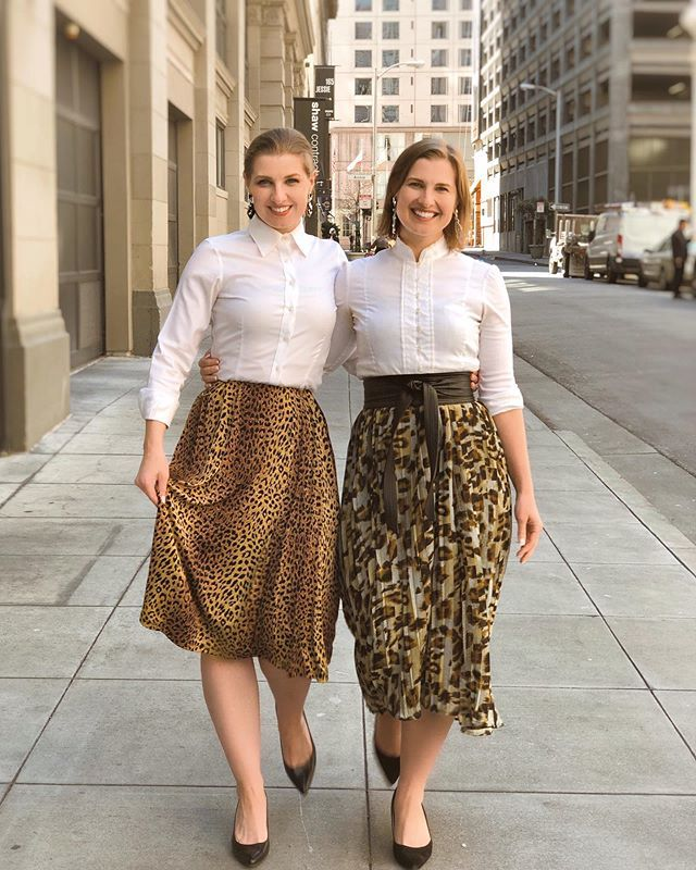 Who Wore It Better Two Takes On Animal Print Midi Skirt As A Professional Look One Of The Best Things About Printed Midi Skirt Midi Skirt Animal Print Skirt