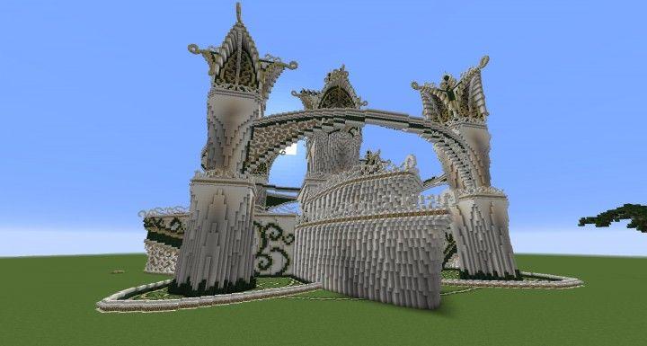 Resultado de imagen de elven castle minecraft