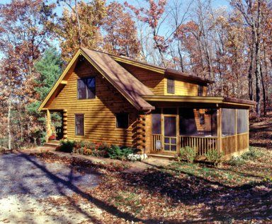 Screened porches porches and cabin on pinterest for Log cabin screened in porch