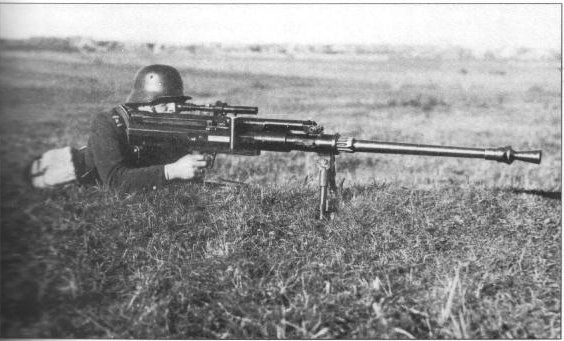 Ethnically Estonian German soldier firing a Solothurn S-18/100 anti-tank rifle, date unknown #warphotography #war