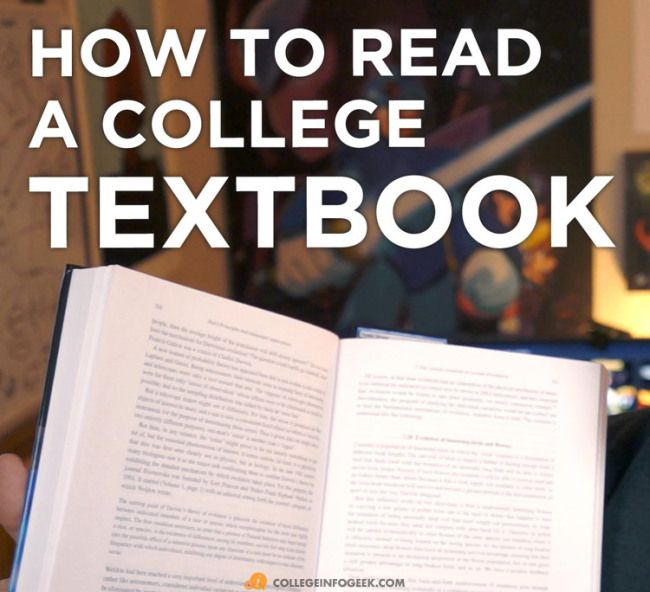 Super useful tips on how to read your textbooks in college!