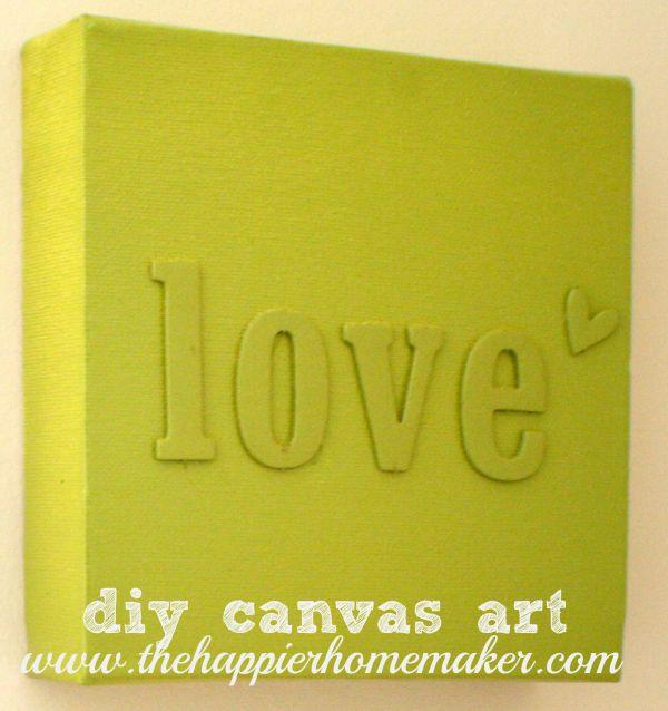 106 best DIY canvas art images on Pinterest | Child room, Creative ...