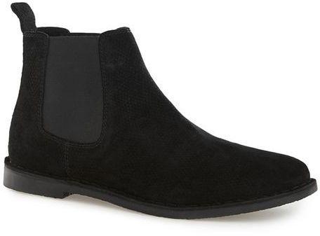Topman Black Suede Chelsea Boots