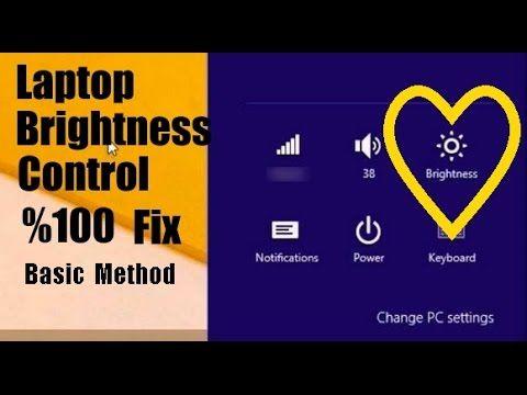 Laptop Brightness Control %100 Fix Working and NoteBook/Laptop Parlaklık...