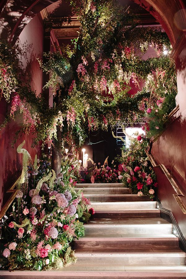 """Taking root on Sketch's staircase through the green fingers behind By Appointment Only Design, the second exhibit, """"Midnight into Titania's Garden,"""" evoked the romanticism of Victorian fairy paintings and conjured up the ultimate fairy queen: Shakespeare's Titania. 