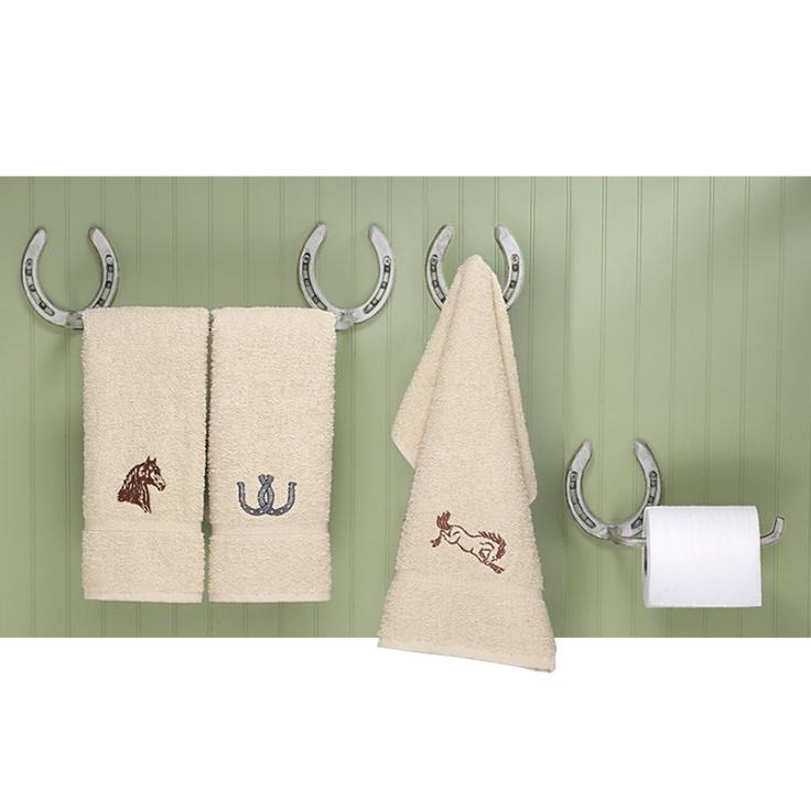 Horseshoe Towel Rack And Toilet Tissue Holder For Western