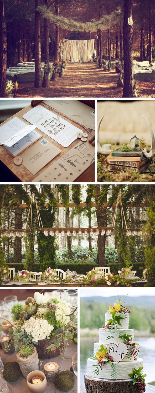 What better place to have a natural wedding than the woods? A breathtaking backdrop, provided by Mother Nature.