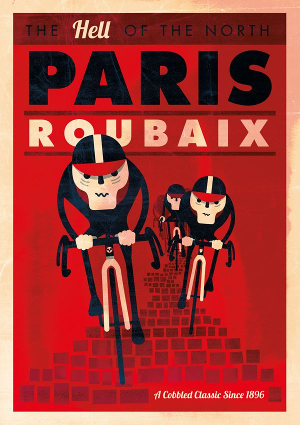 Ilustraciones ciclistas de Spencer Wilson 4