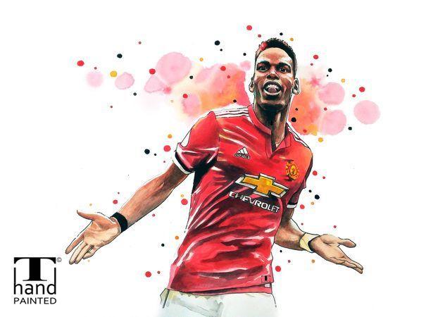 d215c455297e5 Paul Pogba, Manchester United, Poster Print Wall Art of the Original ...