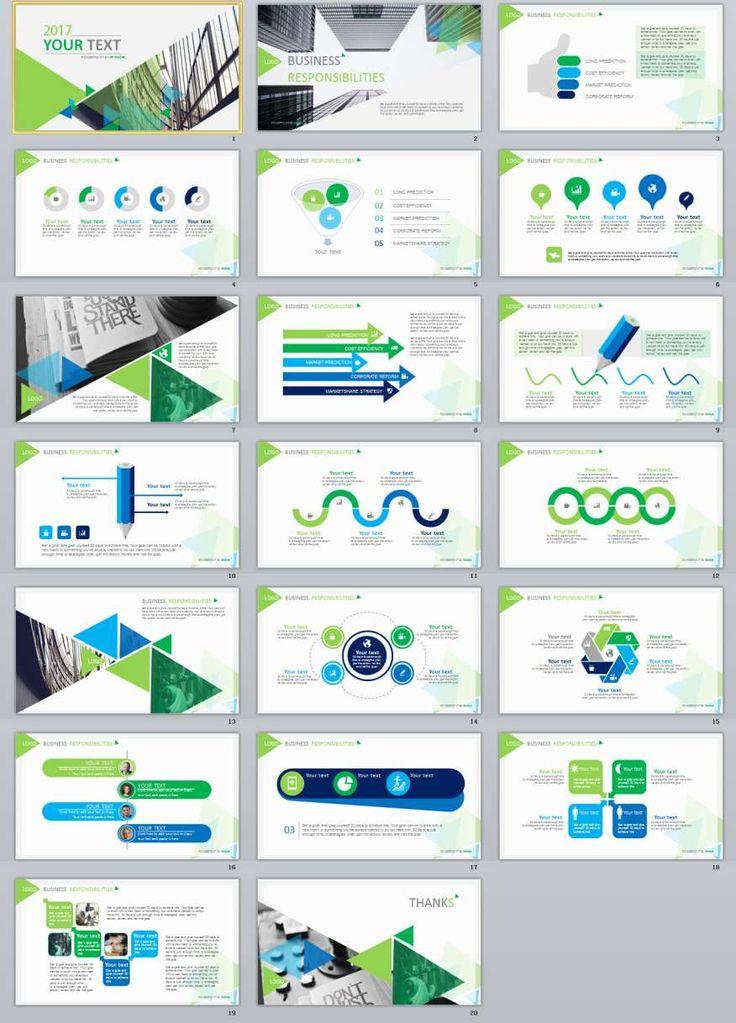 20+ Green Report Powerpoint Presentation Template
