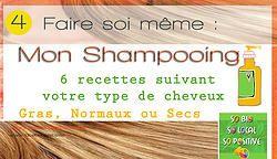 6 recettes de Shampooing pour 3 types de cheveux , facile et à faire vous même !