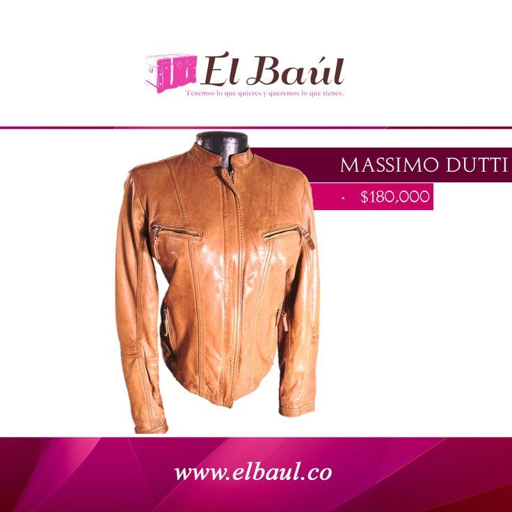 @massimodutti un estilo elegante y estudiado  $180,000  http://elbaul.co/Productos/235/Chaqueta-de-Cuero-Massimo-Dutti-caf%C3%A9--