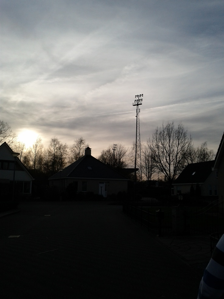 Stadium Langeleegte, Veendam. With my left arm.