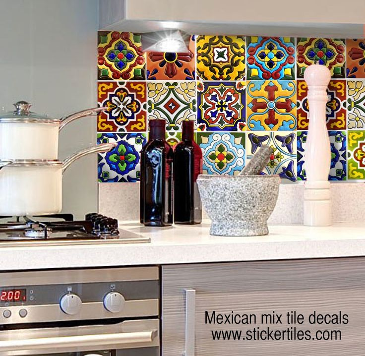 Tile decals, Talavera fully waterproof and scratch resistant  www.etsy.com/shop/SnazzyDecals
