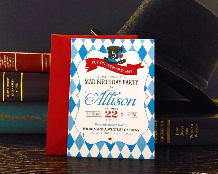Whimsical Alice in Wonderland inspired invitation. #bykoketdesign