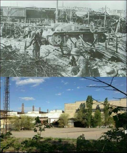 Then& Now Barrikady Gun Factory, Stalingrad