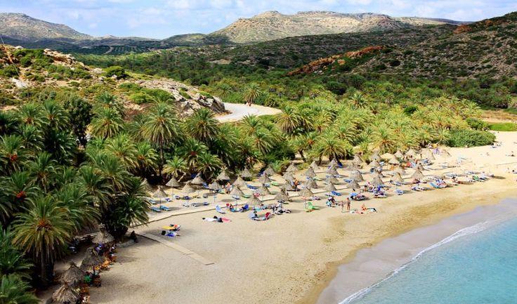 The sandy beach of Vai, Crete