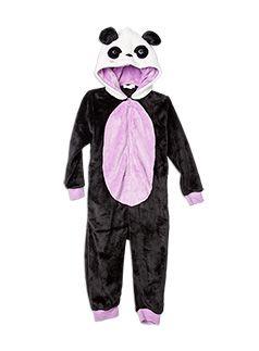 Nightwear Panda Fluffy All-in-One Vanilla -