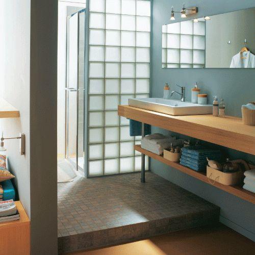 Utilizza il calcestruzzo e il vetromattone per creare - Loft beton cire leroy merlin ...