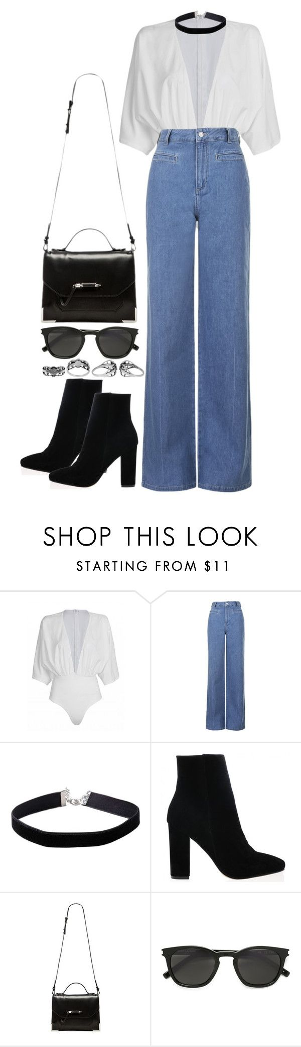 """""""Untitled #660"""" by weyheytati ❤ liked on Polyvore featuring Topshop, Miss Selfridge, Mackage, Yves Saint Laurent and Harley-Davidson"""