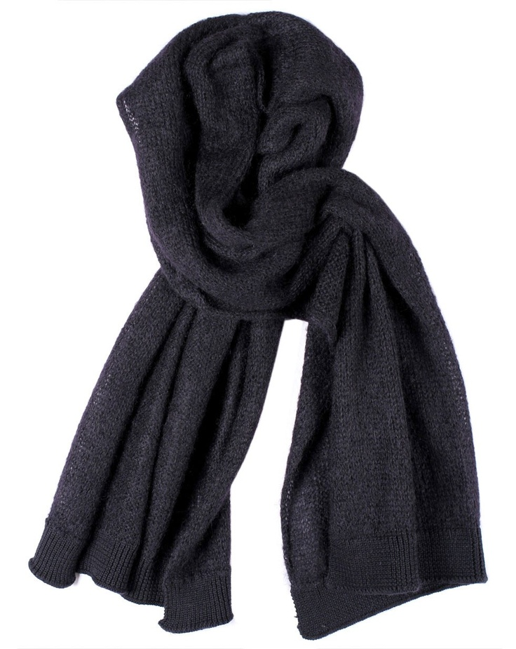 Mohair Scarf in Black by Zambesi - Jewellery, Scarves and Hats - Accessories