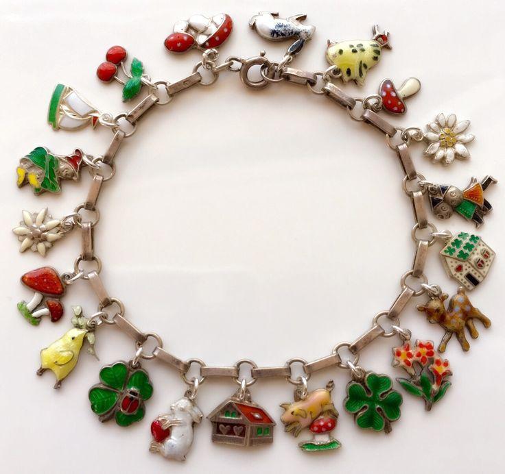 A personal favorite from my Etsy shop https://www.etsy.com/listing/293754151/antique-art-deco-enamel-charm-bracelet