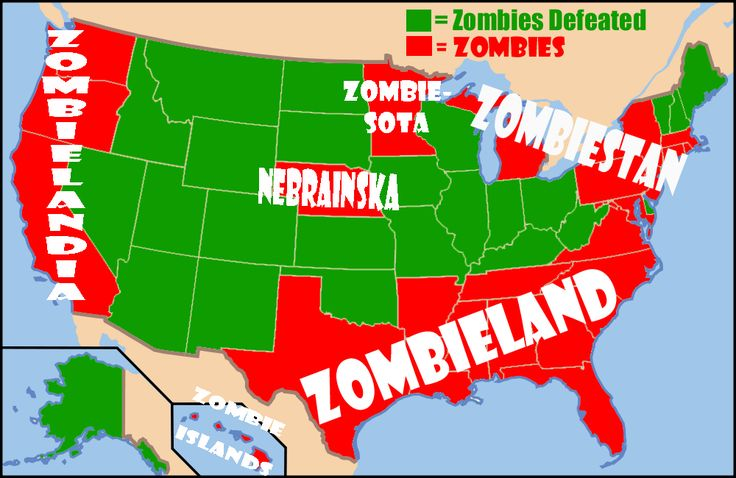 Who is most likely to survive a Zombie Attack. Ranked #1survivor is Alaska and  the last spot is reserved for the Garden State, New Jersey....lol