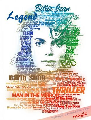 """Michael Jackson Typography. This is one of the coolest things I've ever seen! - """"MICHAEL JACKSON"""" - KIRUFUS PICTURES"""