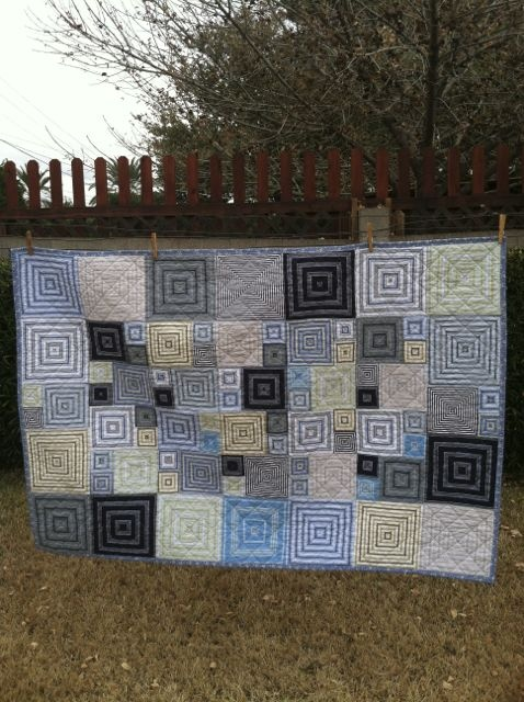 This quilt is made from re-cycled mens shirts !!! Contact me if you have alot of shirts ( about 6 or 7) and want a quilt made !!!!