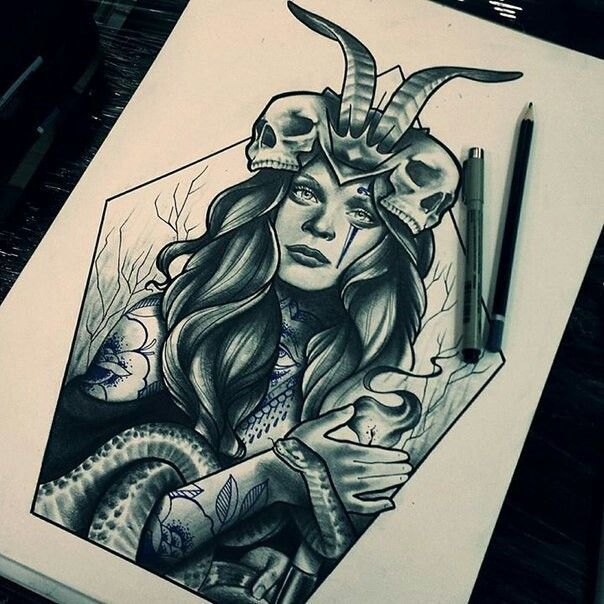 Tattoo Gothic Woman