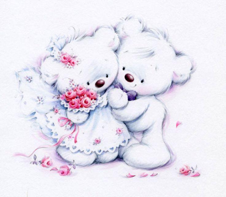 Красивые картинки с нарисованными мишками