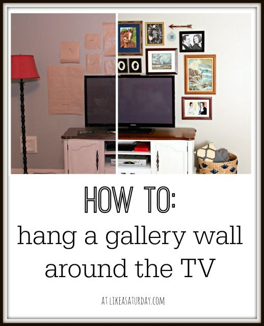 How to hang a gallery wall around the tv best of for Best tv to hang on wall