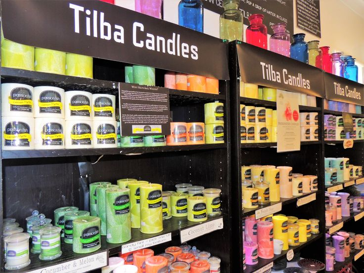 Lovely scented cadles from Tilba Candles at Passionfish in Central Tilba