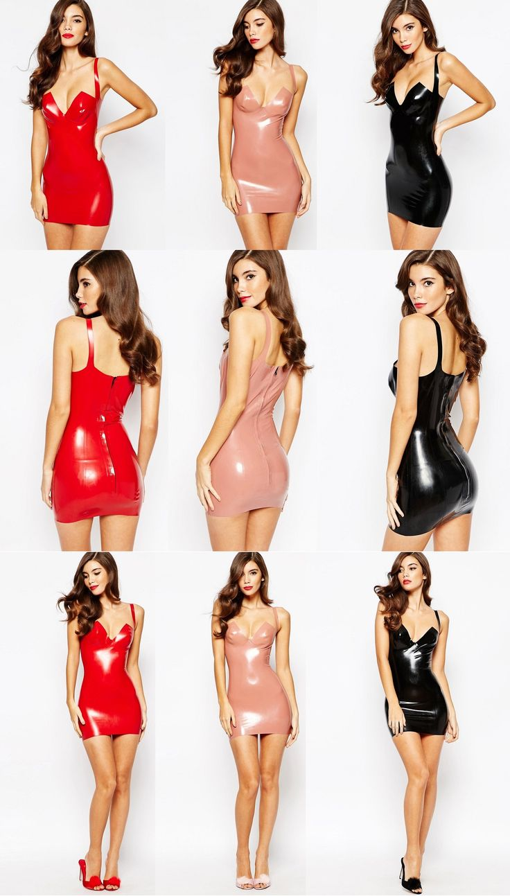 House Of Harlot Dahlia Latex Slip Dress - Return to the 90s Hot Trend; Slip…
