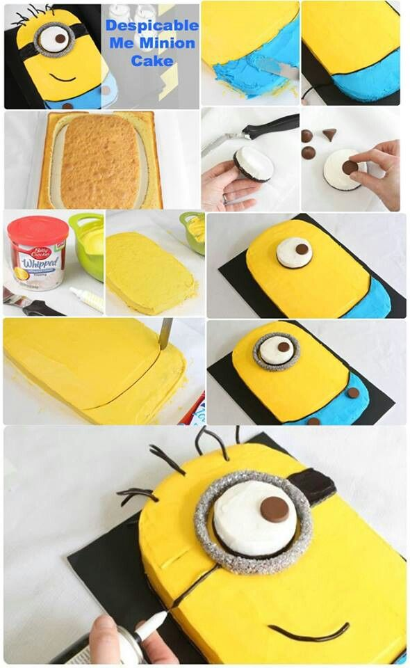 Minion Cake (Doing this for David's birthday!)