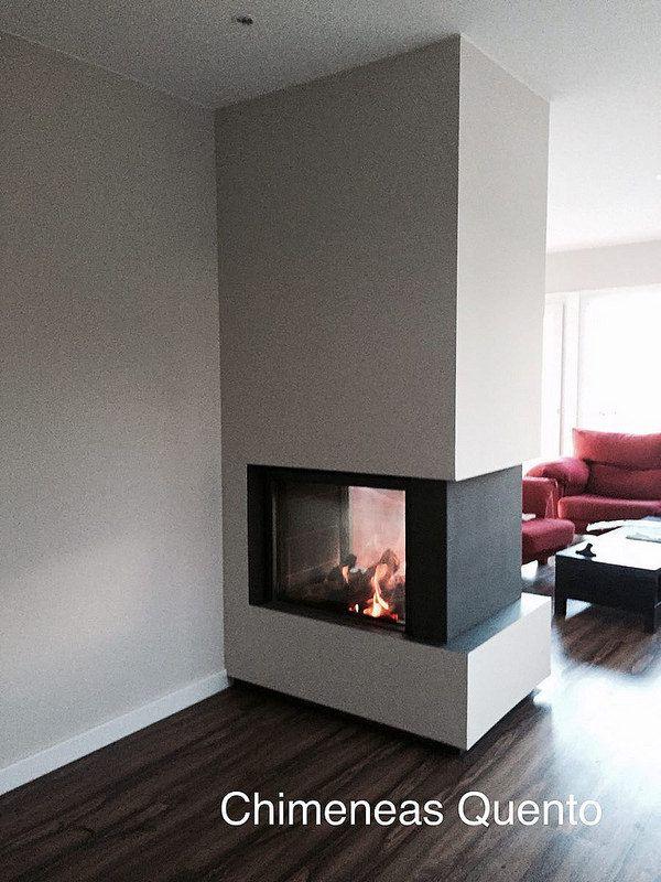 Las 25 mejores ideas sobre chimenea de doble cara en - Chimeneas de doble cara ...