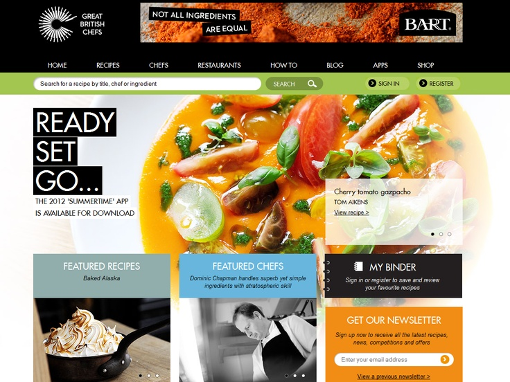 Top 10 Kentico Websites for July 2012 http://devnet.kentico.com/Blogs/Lenka-Navratilova/August-2012/Top-10-Kentico-Websites-for-July-2012.aspx Great British Chefs  Implemented by:  Great British Chefs, United Kingdom  Kentico client