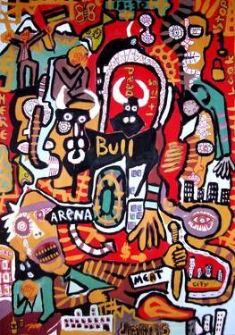 "Saatchi Art Artist dimitris p; Painting, ""Street Art .Arena"" #art"