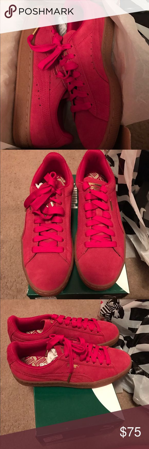 Brand New Red Puma Suede Classic Women Brand New Red Puma Suede Classic Women Size 8.5 Puma Shoes Sneakers