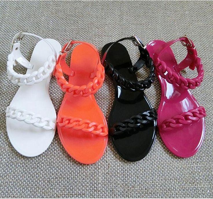 2016 verão novas mulheres europeias e americanas de sapatos com sandálias romanas planas dedo do pé redondo sandálias flat mulheres sapatos de geléia maré MXC221(China (Mainland))