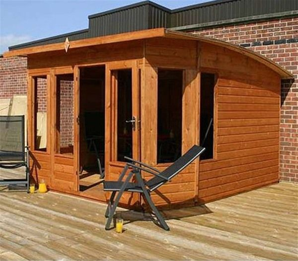 Helios Curved Wooden Summer House - 10 x 10