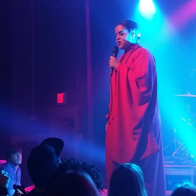 This just happened: @SeinaboSey sings to an enchanted audience at Wonder Ballroom in Portland, OR #SEmusic #NordicOnTour