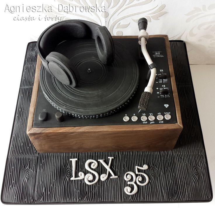 tort w kształcie gramofonu, Gramophone cake