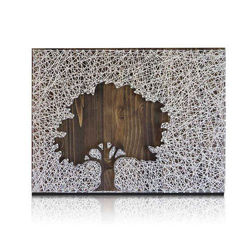 The Oak Tree String Art Kit is a perfect project for Fall, using reverse string art technique to create a distinctive wall art. A quick and easy project that you can start and finish within hours. Kit