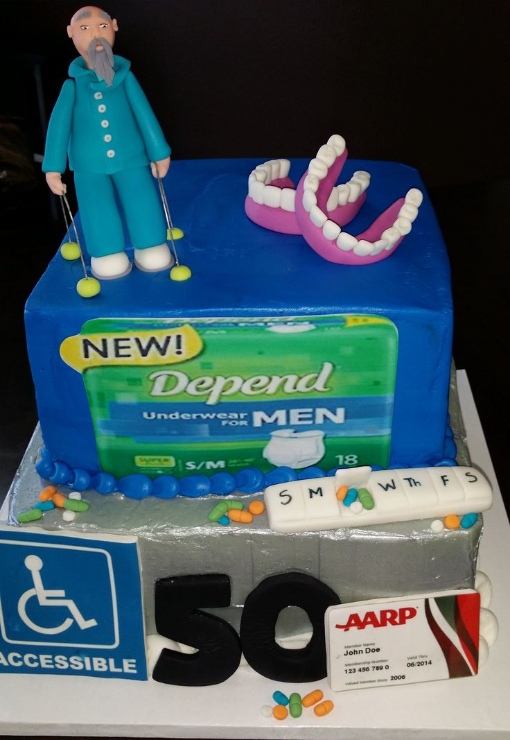 over the hill depends cake - Google Search