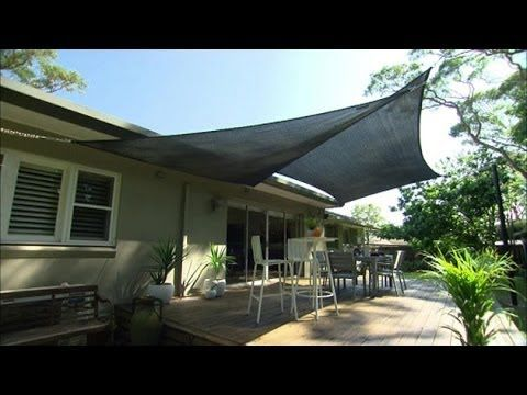 Better homes and gardens, how to video, erecting shade sails