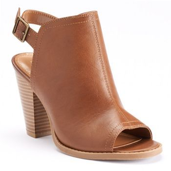 LC Lauren Conrad Women's Peep-Toe Booties