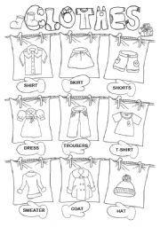 Image Result For Clothes Worksheets