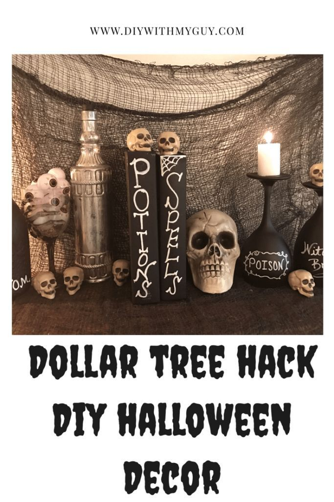 DIY Cheap Halloween Decor – Dollar Tree Hack
